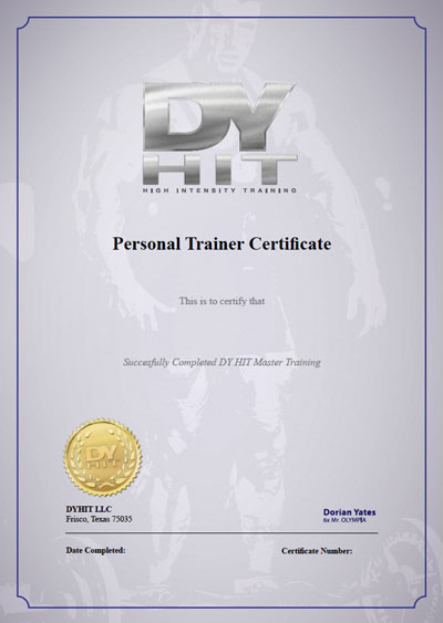 DYHIT Bodybuilding Certification Course from Dorian Yates